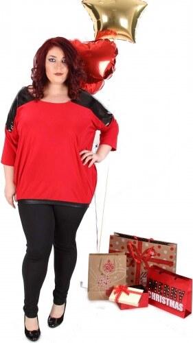 3f17ff77020a βράδυ μπλούζα με παγιέτες Κόκκινο