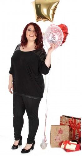 9c98859b8f6a βράδυ μπλούζα με παγιέτες σε μαύρο χρώμα