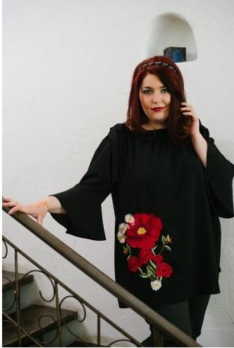 95f9318e385b πουκάμισο DESERT ROSE μαύρος
