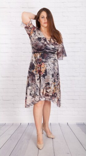 8f0247c5273 Φόρεμα - τουνίκ με δερμάτινη ζώνη και φόδρα   Γυναικεία ρούχα μεγάλο ...