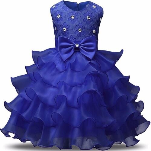 7f4180ab38c Παιδικό Φορεματάκι Γενεθλίων Μπλε - Meng Baby - Glami.gr
