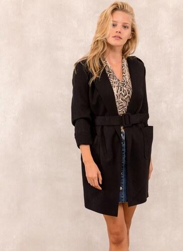 The Fashion Project Μάλλινο παλτό με κουκούλα - Μαύρο - 001 - Glami.gr f2b2a98cef1