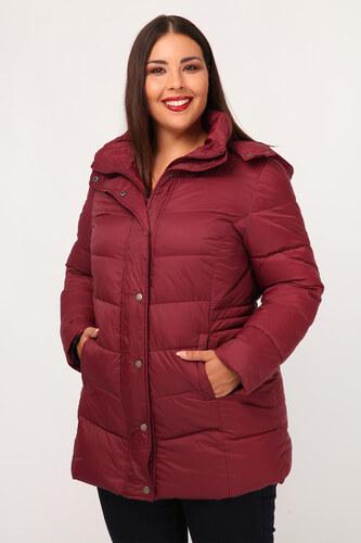 Dina XL Plus Size Μακρύ μπουφάν με κουκούλα - Glami.gr ee2d39a914a