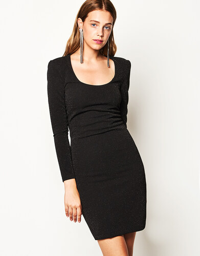 Lynne Κλασικό φόρεμα με μεταλλική ίνα - Glami.gr d3f2fec6e80