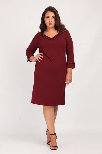 Dina XL Midi pencil φόρεμα με τρουκς - Glami.gr 10d94f3e384