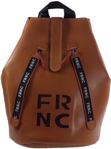 a007064901 FRNC FRANCESCO Τσάντα Γυναικεία Πλάτης-Backpack 1241 Ταμπά Δέρμα frnc 1241  tampa derma