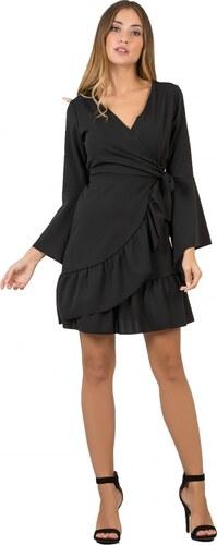 5c7f8d45e0d7 DeCoro F2504 Φόρεμα Κρουαζέ με Μανίκια Καμπάνα - ΜΑΥΡΟ - 10 - Glami.gr