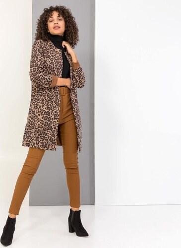 The Fashion Project Leopard suede μεσάτο σακάκι χωρίς γιακά - Leopard - 004 580c6191d57