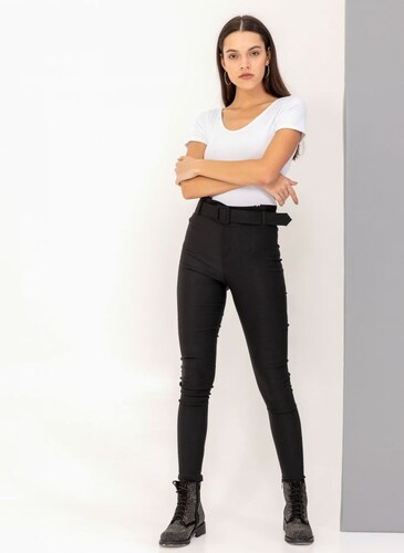 890a007e218 The Fashion Project Ψηλόμεσο skinny fit παντελόνι - Μαύρο - 001 ...