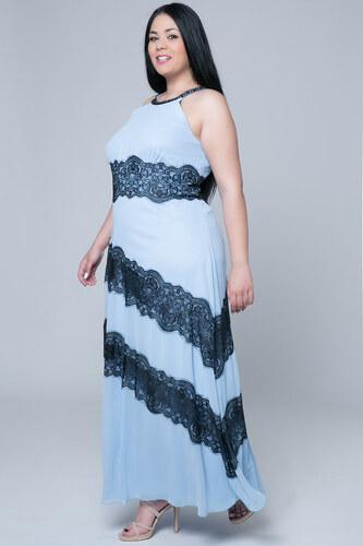 Happysizes Maxi σιέλ φόρεμα με παρτούς ώμους - Glami.gr 44419e5bdd6