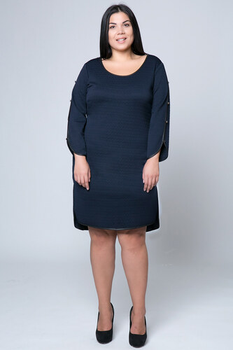 2cfbb4745a68 Happysizes Ασύμμετρο μπλε midi φόρεμα - Glami.gr
