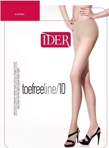 IDER Καλσόν 10 Den Toe Free line Χωρίς Μύτη με Lastex Ηλιοκαμένο(Daino) eaa1a6a13ad
