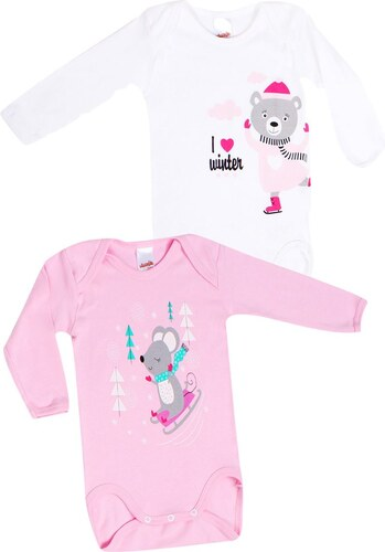 Minerva Φορμάκι Baby Κορίτσι Μακρύ Μανίκι Winter - Διπλό Πακέτο Πολύχρωμο 457d513c890