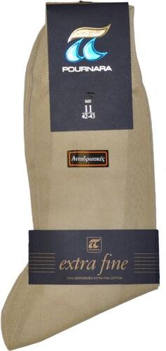 ΠΟΥΡΝΑΡΑ Πουρνάρα Ανδρικές Κάλτσες Βαμβακερές Αντιιδρωτικές Ανοιχτό Μπεζ 349a1474dec