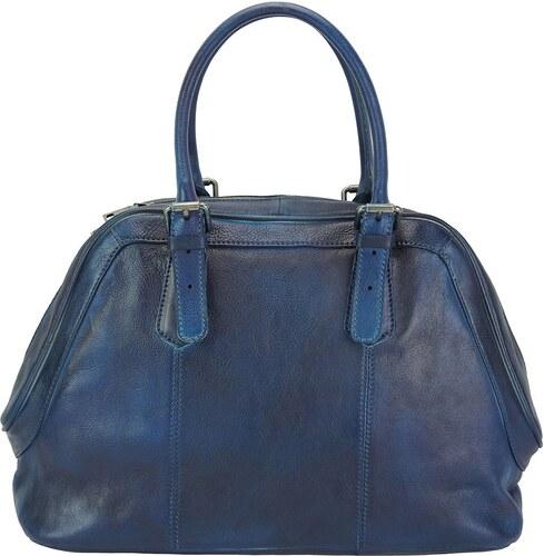a172e784c75e Δερμάτινη Τσάντα Χειρός Zaira Firenze Leather 68153 Σκουρο Μπλε ...