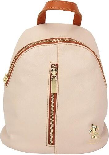 Δερμάτινη Τσάντα Πλάτης Lorella Firenze Leather 9011 Ροζ Μπεζ - Glami.gr 5d100d0cf20