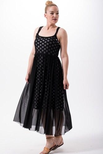 8d192495552e Petit Boutik Μαύρο Μίντι Φόρεμα Τούλι με Μεσοφόρι Μαύρο Πουά - Glami.gr