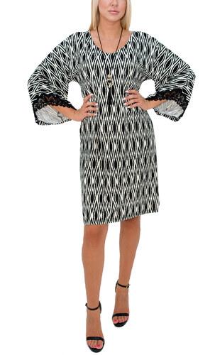 e140f80bb68b RAVE Ασπρόμαυρο φόρεμα με μοτίβα - Glami.gr