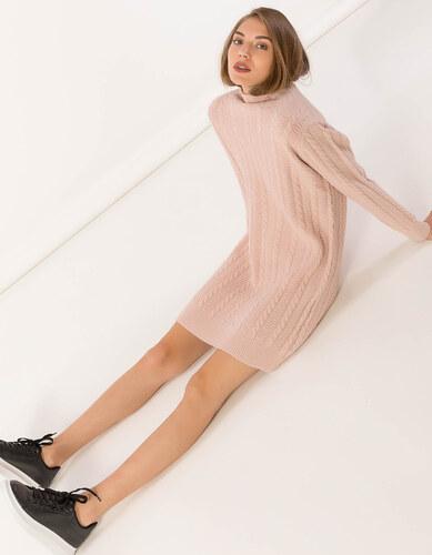 Issue Fashion Mini πλεκτό φόρεμα με ζιβάγκο και σχέδιο κοτσίδα ... 903b94ede53