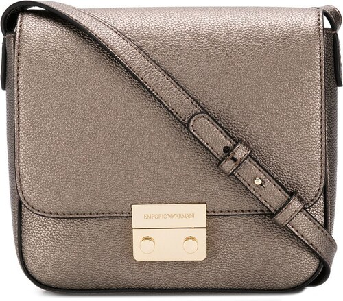bfa0814c8bfb Emporio Armani push lock cross-body bag - Metallic - Glami.gr