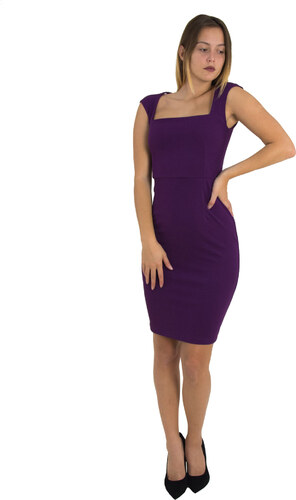 c5551adc86ff No Stress Γυναικείο μωβ Scuba midi φόρεμα μονόχρωμο 8305129F - Glami.gr