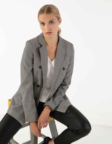 Issue Fashion Καρό σακάκι με γιακά και πέτο και μπροστινές τσέπες ... 1c71354a6e2