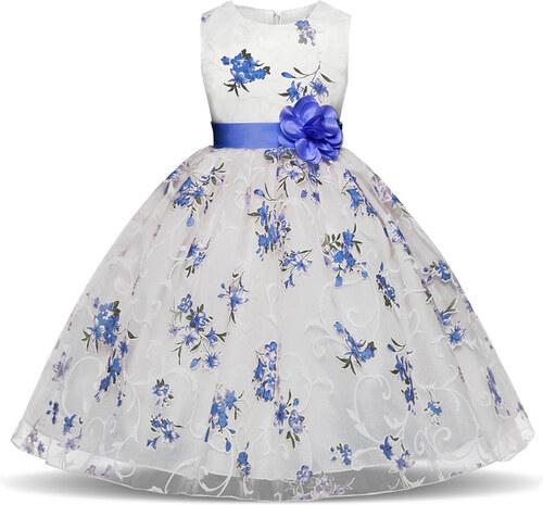 a183c7ed47d Φορεματάκι για εκδήλωση Μπλε με λουλουδάκια Παιδικό - Meng Baby ...