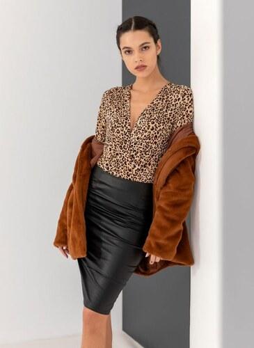 06db2dd1b74 The Fashion Project Μακρυμάνικο κρουαζέ leopard κορμάκι - Leopard ...