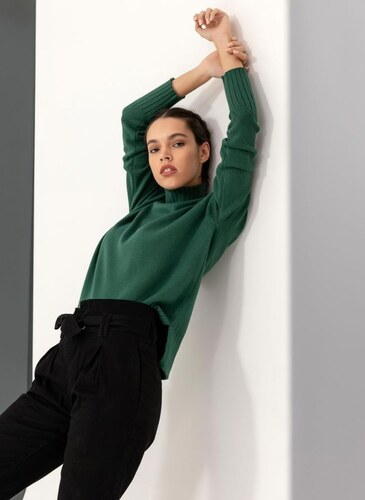 2dbda953fd09 The Fashion Project Πλεκτό με ζιβάγκο - Κυπαρισσί - 010 - Glami.gr