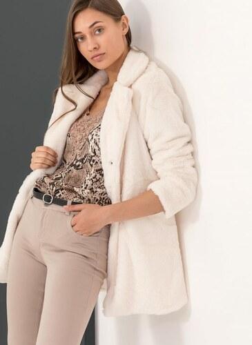 c88d0ce0f26 The Fashion Project Παλτό από οικολογική γούνα - Λευκό - 05877001001 ...