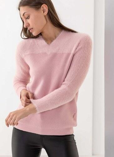1ff6299eb56f The Fashion Project Πλεκτό με λαιμόκοψη - Ροζ - 05902012013 - Glami.gr