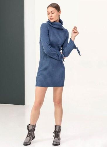 d4a070f199a9 The Fashion Project Ριπ πλεκτό εφαρμοστό φόρεμα με ζιβάγκο - Ραφ -  05897069013