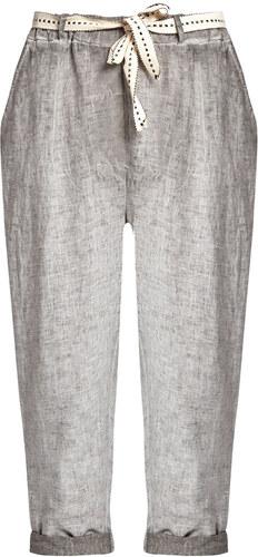 6a03081129e3 Celestino Λινό κάπρι παντελόνι με αποσπώμενη ζώνη SD7797.1236+1 ...