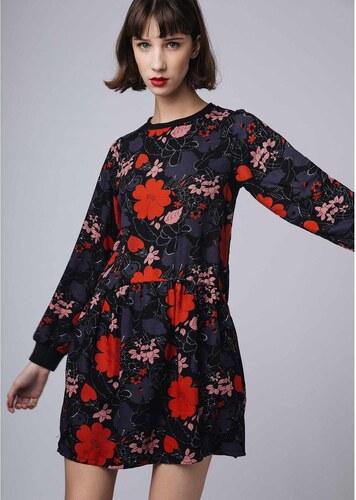 COMPANIA FANTASTICA Κοντό φλοράλ φόρεμα σε εβαζέ γραμμή - Glami.gr 669fa9be1f4