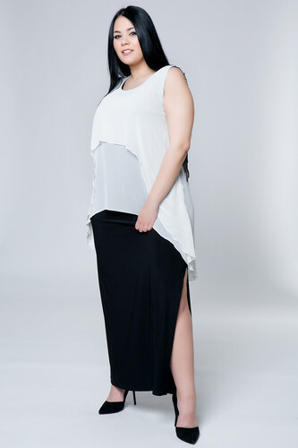 7356e224e8a6 Happysizes Maxi φόρεμα με δαντέλα στην πλάτη - Glami.gr