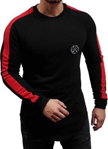 b77d09e2e201 Vinyl Art Clothing Vinyl Art - 98560 - Core Sweatshirt Stripe - Black Red -  Φούτερ