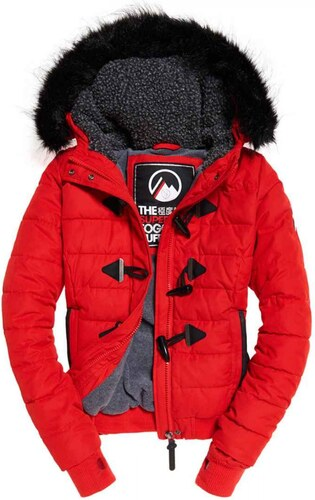 Superdry Microfibre Toggle Puffer (red) - Glami.gr ab819c18d65