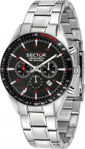 Ρολόι Sector 770 χρονογράφος με ασημί μπρασελέ R3273616004 - Glami.gr ddbb9b640af