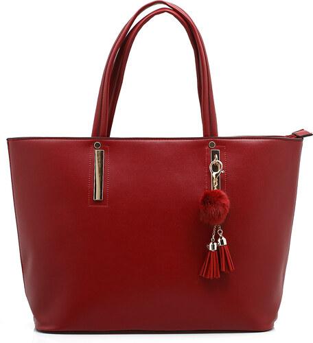 Bozikis Μεγάλη μονόχρωμη τσάντα ώμου 87570 ΚΟΚΚΙΝΟ - Glami.gr bece14c0f92