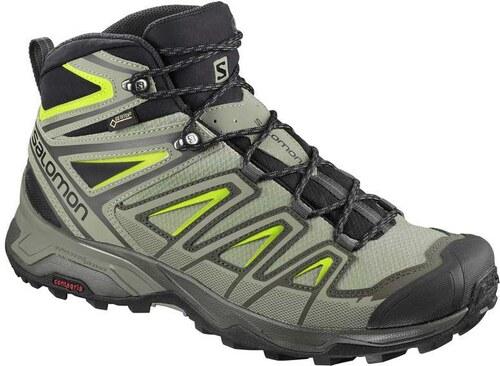 -23% Αδιάβροχα ορειβατικά μποτάκια ανδρικά Salomon X Ultra 3 Mid GTX Gore- Tex Beluga 401663 Πράσινο 6f31d046854
