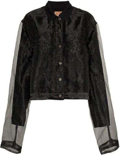 8949801b5f8b Y   Project organza denim jacket - Black - Glami.gr