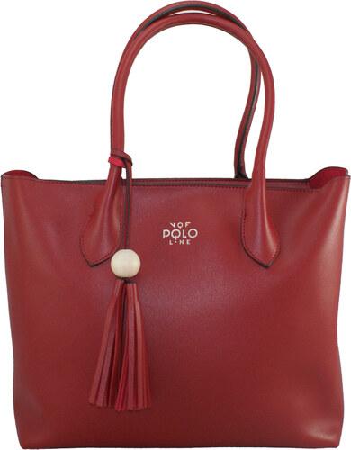 c4ab6f3cd6 VQF Italia Γυναικεία τσάντα χεριού-ώμου VQF Polo Line 1414 σε κόκκινο χρώμα  έως 6