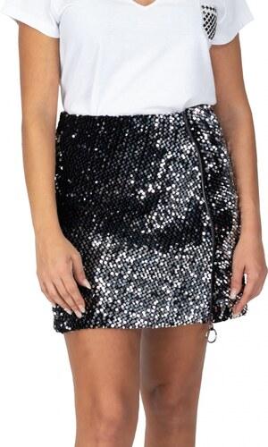 Miss Pinky Φούστα mini με πούλιες και φερμουάρ - ΑΣΗΜΙ 108-1081 ... b7c2179d16a