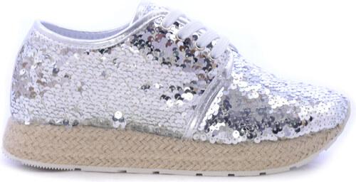 df87557dc61 WOZ Casual Γυναικεία Παπούτσια Σε Ασημί Χρώμα - Glami.gr