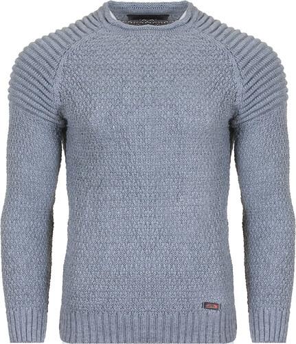 a01d6f8c574d Be-casual Ανδρική Πλεκτή Μπλούζα Abolition Grey Medium - Glami.gr