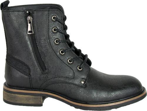 ToRouxo Ανδρικά αρβυλάκια Biker μαύρα με κορδόνια EL0576 - Glami.gr 258c59633a5