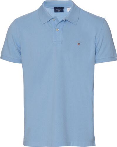 5d72eb8c6ae2 Polo μπλούζα μονόχρωμη Gant Σιέλ 3G2201 - Glami.gr
