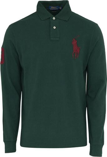 33af67c09ce7 Μπλούζα πόλο Polo Ralph Lauren Κυπαρισσί σε Custom slim fit Γραμμή  710671951 009-GREEN