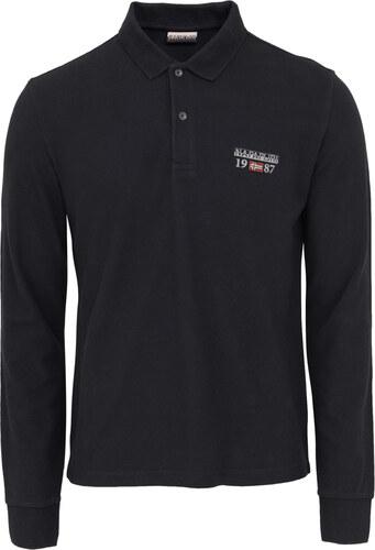 Μπλούζα Polo Napapijri Μαύρη N0YHWY ERTHROW 041-BLACK - Glami.gr 9ae40ea816f
