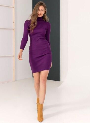 The Fashion Project Ριπ εφαρμοστό φόρεμα με ζιβάγκο - Μωβ - 06085021009 69c0c198466